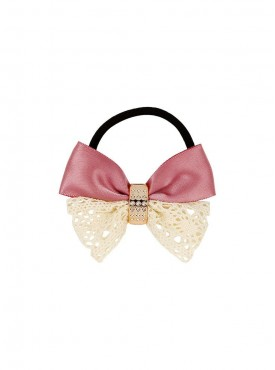 Fayon Weekend Casual Pink Unique Bow Design Rubber Band