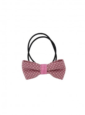 Fayon Party Style Dive Pink Bow Style Rubber Band