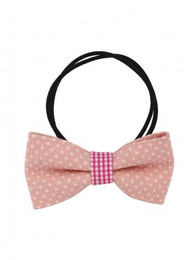 Fayon Funky Fashion  Light Pink Bow Style Rubber Band