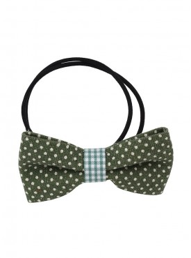 Fayon Chunky Fashion Olive Green Bow Style Rubber Band