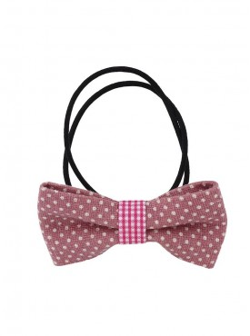Fayon Trendy Costume Maroon Bow Style Rubber Band