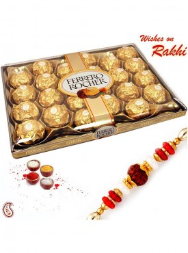 24 Pc Ferrero Rocher Box with Rakhi