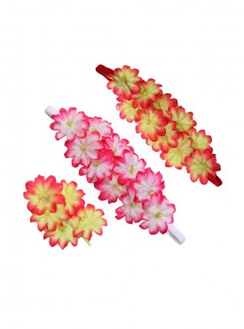 Flower Jewelry Ethnic 2 headband, 1 clip