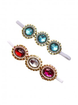 Blingy Stonework Ethnic Wear 2 Headband