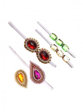 Delicate Stonework Ethnic Wear Hair Accessories