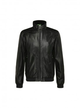 Black Fit Leather Jacket