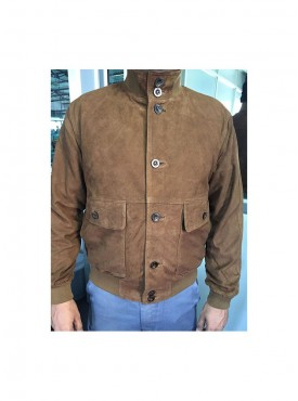 Men Leather Jacket Tobacco Color