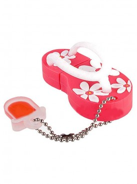 Microware Slipper Shape Fancy 16 GB Pen Drive Pink