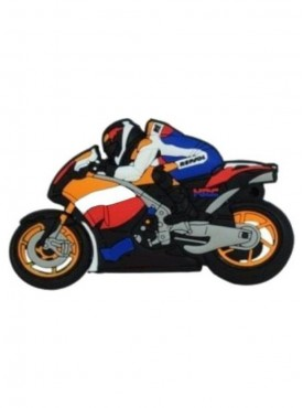 Microware Honda Motar Bike 16 GB Pen Drive Multicolor