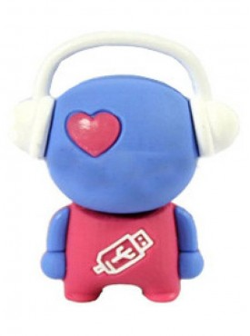 Microware Music Man Shape 16 GB Pen Drive Pink&Blue