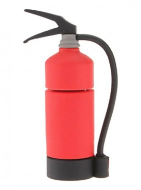 Microware Fire Extinguisher Shape 16 GB Pen Drive Red