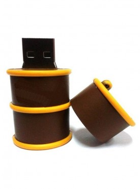 Microware Barrel 16 GB Pen Drive Brown
