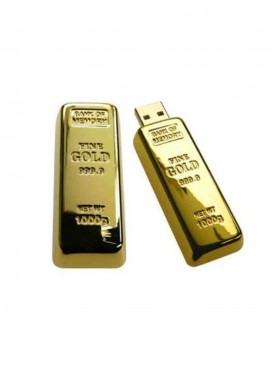 Microware Golden Biscuit Shape 16GB Pen Drive