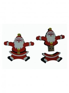 Microware Santa Claus Shape Fancy 16 GB Pen Drive Red & White