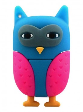 Microware Owl New Multi Colour Shape Designer Fancy Pendrive 16 GB Pen Drive