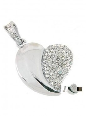 Microware Heart Shape 16 GB Pen Drive