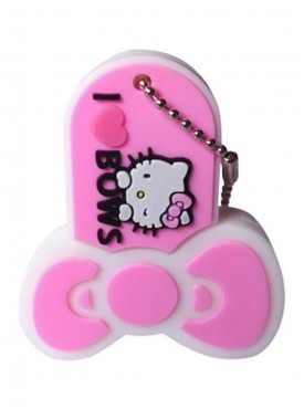 Microware Hello Kitty Bows Pink 16 GB Pen Drive Multicolor