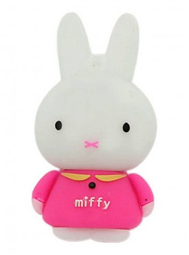 Microware Miffy Shape 16 GB Pen Drive Pink & White