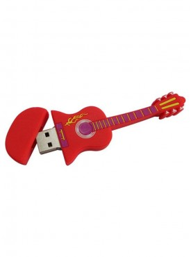 Microware Red Electric Guitar Shape 16 GB Pen Drive