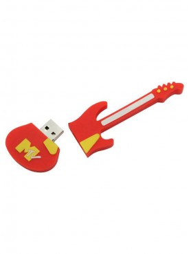 Microware Guitar Shape 16 GB Pen Drive Red