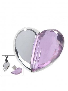 Microware Crystal Heart 16 GB Pen Drive Multicolor