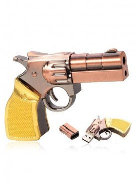 Microware Gun Golden Metal Shape 16 GB Pen Drive