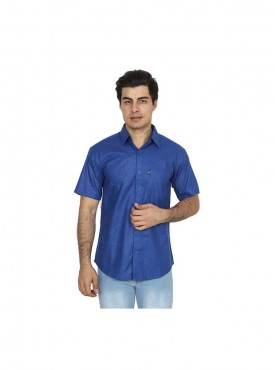 Fizzaro Blue linen shirt for men