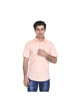 Fizzaro Orange linen shirt for men