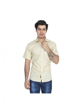 Fizzaro Peach linen shirt for men