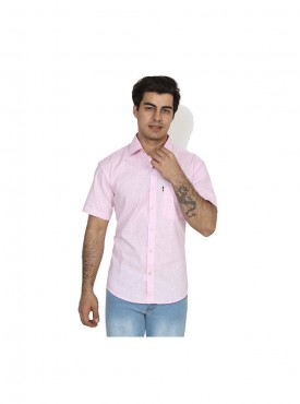 Fizzaro Pink linen shirt for men