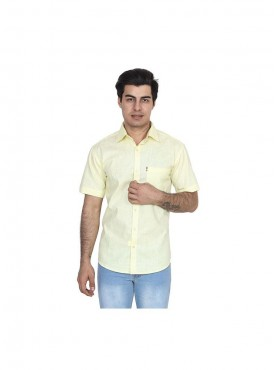 Fizzaro Yellow linen shirt for men