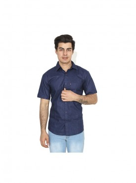 Fizzaro RoyalBlue linen shirt for men