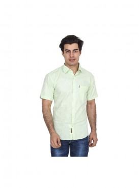 Fizzaro Green linen shirt for men