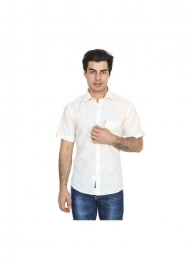 Fizzaro White linen shirt for men