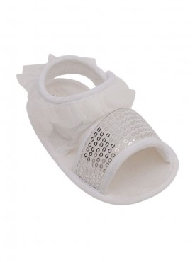 Princess Style Frilly Sandals For Baby Girls