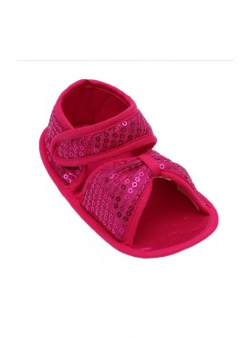 Sparkly Shiny Crib Sandals For Baby Girls