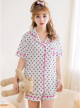 Fashion Colors Dots Short Pajama Leisure Suits