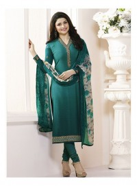 Shelina Woman Green French Creap Party Wear Salwar Suit