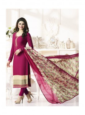 Shelina Woman Rani Pink French Creap Party Wear Salwar Suit