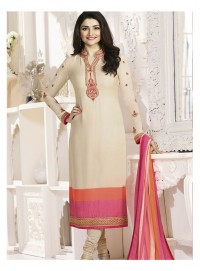 Shelina Woman Cream French Creap Party Wear Salwar Suit