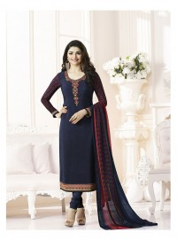 Shelina Woman Blue French Creap Party Wear Salwar Suit