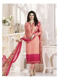 Shelina Woman Peach French Creap Party Wear Salwar Suit