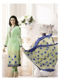Shelina Woman Light Green French Creap Party Wear Salwar Suit