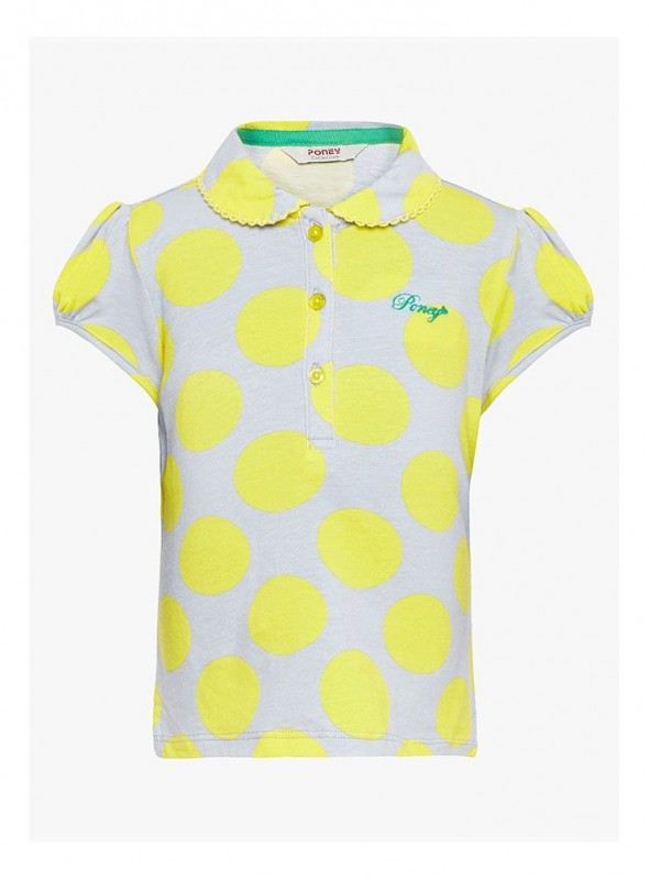 Girls Yellow Color Regular Top
