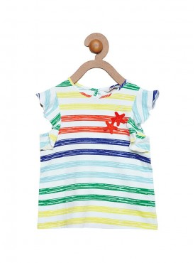 Girls Assorted Colors Color Regular Top