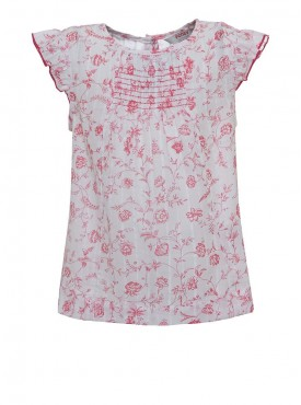 Girls Pink Color Regular Top