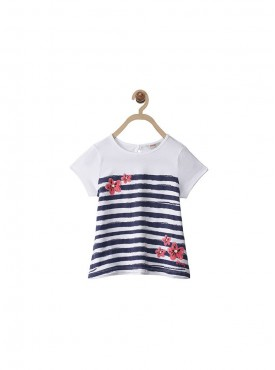 Girls White Color Regular Top