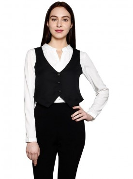 Today Fashion Black Waist Coat