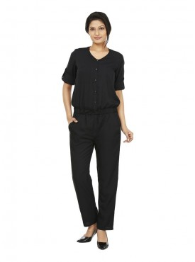 Today Fashion Black Coloured Jumpsuit