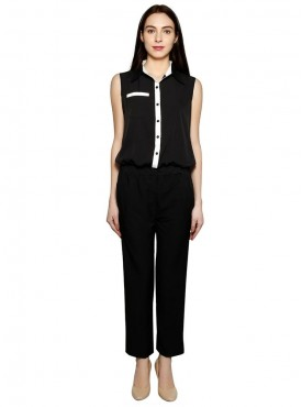 Today Fashion White Black Jumpsuit